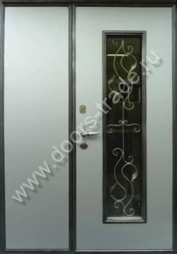 входные двухстворчатые двери для офиса